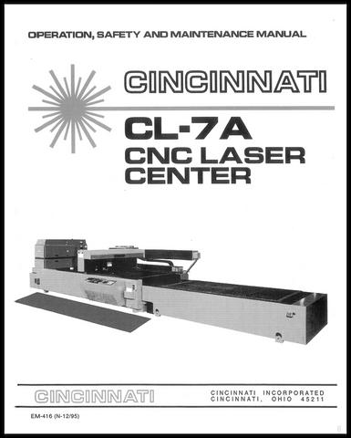 EM-416 CL-7A CNC Laser Center OSMM