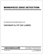 EM-452 (N-05-99) Workpiece Edge Detection - An Operation Supplement Manual for CL-707 CNC Lasers