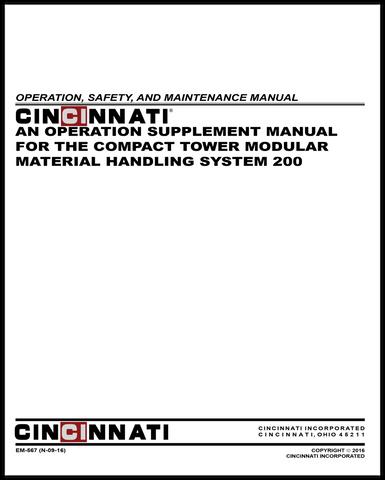 EM-567 (N-09-16) MMHS 200 Compact Tower Operation Supplement
