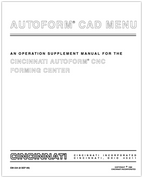 EM-334 (8 SEP 89) AUTOFORM CAD Menu for AUTOFORM CNC Forming Center Operation Supplement Manual