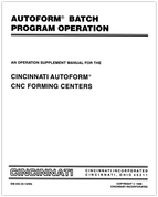 EM-432 (N-12-96) Autoform Batch Program Operation