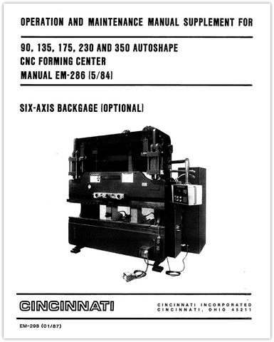 EM-298 (01-87) AUTOSHAPE 6-Axis Backgage