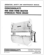 EM-155 (FEB 93) Operation, Safety, and Maintenance Manual, 400-2000 FM Hydraulic Press Brake