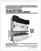 EM-537 (N-08-07) 90-350 MAXFORM HYDRAULIC PRESS BRAKE OPERATION, SAFETY AND MAINTENANCE MANUAL