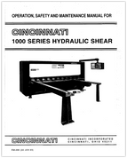 EM-290 1000 Series Hydraulic Shear Operation, Safety, and Maintenance Manual