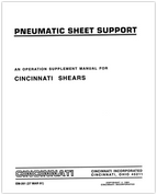 EM-261 (MAR 91) Pneumatic Sheet Supports - Mechanical Shears
