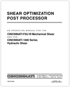 EM-333 (06-89) Shear Optimization Post Processor for FSU III Mechanical Shears and 1000 Series Hydraulic Shears Operation Manual