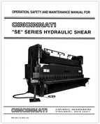 EM-259 SE Series Hydraulic Shear Operation, Safety, and Maintenance Manual