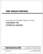 EM-469 (N-09-00) CNC Shear Control - An Operation Supplement Manual for the SE Hydraulic Shears