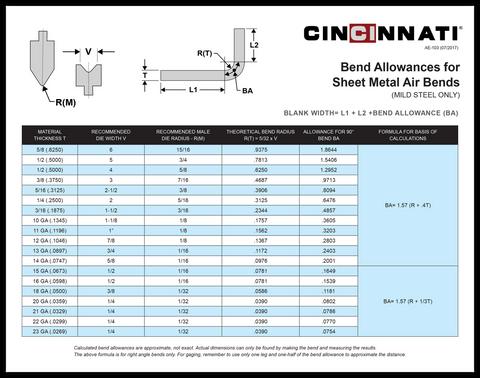 AE-103 CI_BendAllowance_Chart