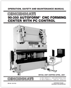 EM-494 (N-01-03) CINCINNATI 90-350 AUTOFORM CNC Forming Center with PC Control