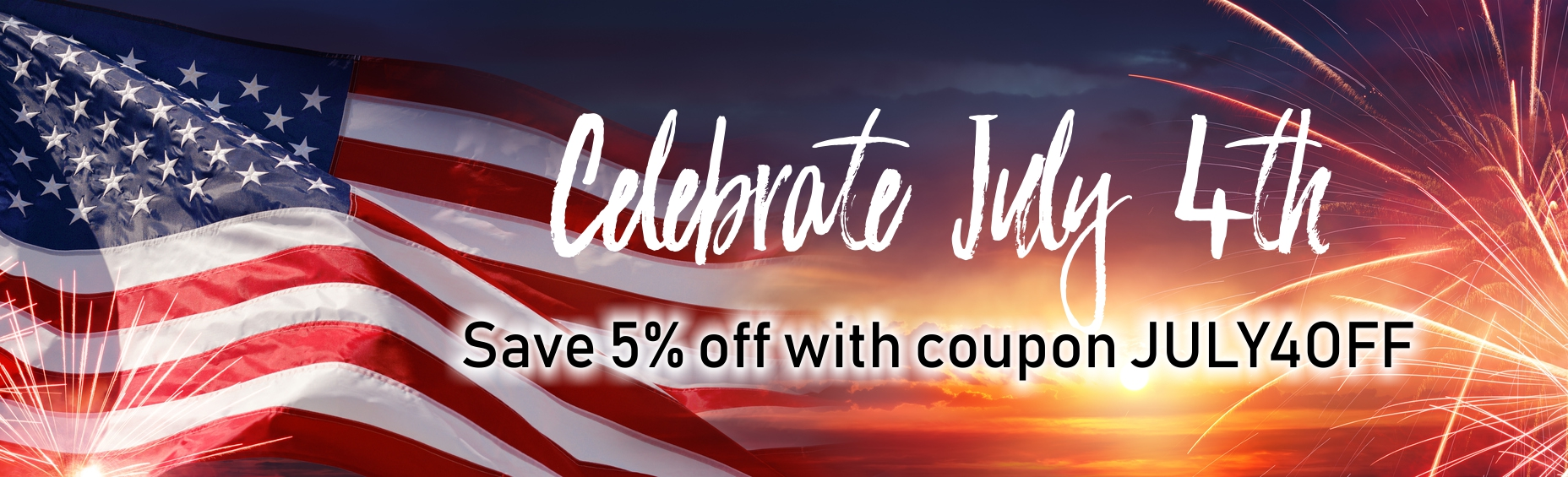 Save with July 4th Coupon