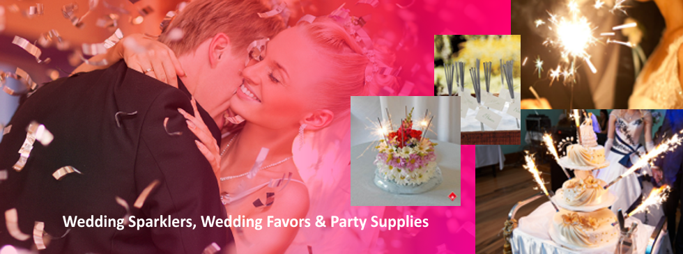 Wedding Sparklers, Wedding Favors & Party Supplies
