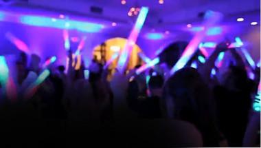 Wedding customized LED foam sticks add pizzazz to your wedding reception.