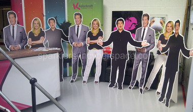 Life size photo cutouts are loads of fun at a birthday, bar or bat mitzvah party.