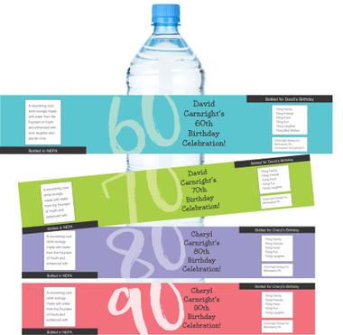 Milestone events such as birthdays, anniversaries, baby showers, Sweet 16, etc. Original design by Cheryl Carnright