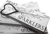 Heart-shaped sparklers for weddings & romantic occasions.