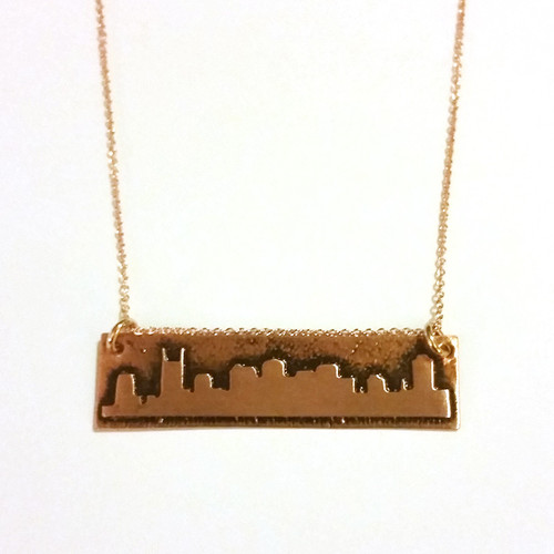 Primrose Copper and Rose Gold Filed Skyline Necklace