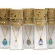 Single Stone Necklace in a Bottle