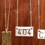 Handstamped Atlanta 404 Area Code Necklace