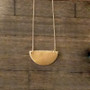 Necklace - Half Moon Necklace - Geometrical