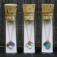 3 Stones Necklace in a Bottle