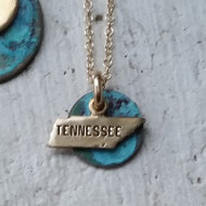 Patinated State Necklace