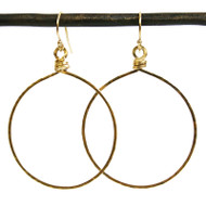 Hammered Circle Hoops