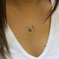 Horseshoe Birthstone Necklace