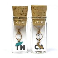 State on a Hammered Ring Necklace in a Bottle