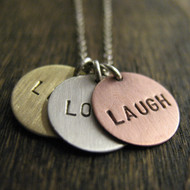 Live, Love, Laugh Necklace Circle