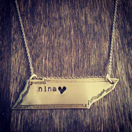 State Necklace with Personalization