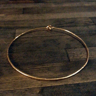 Heavy 14kgf gauge hammered bangle