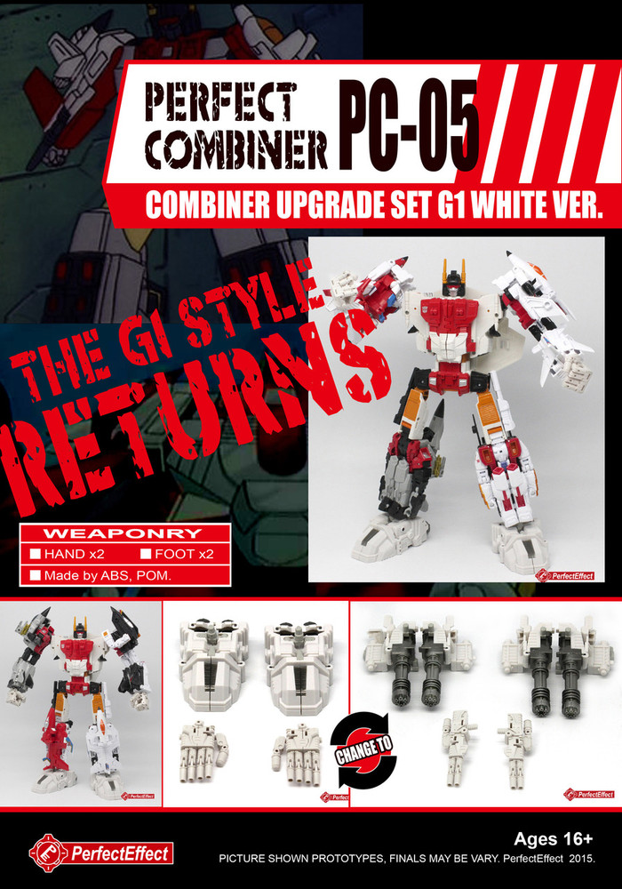 Perfect Effect - PC-05 Combiner Upgrade Set G1 White Version (Re-Stock)