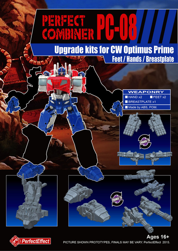 Perfect Effect - PC-08 Perfect Combiner Upgrade Set for Combiner Wars Optimus Prime