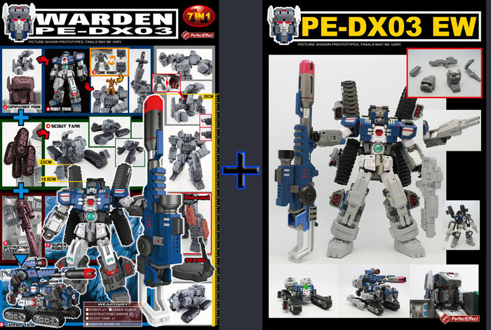 PE DX-03 Warden & PE-DX03EW Add-on Kit Set