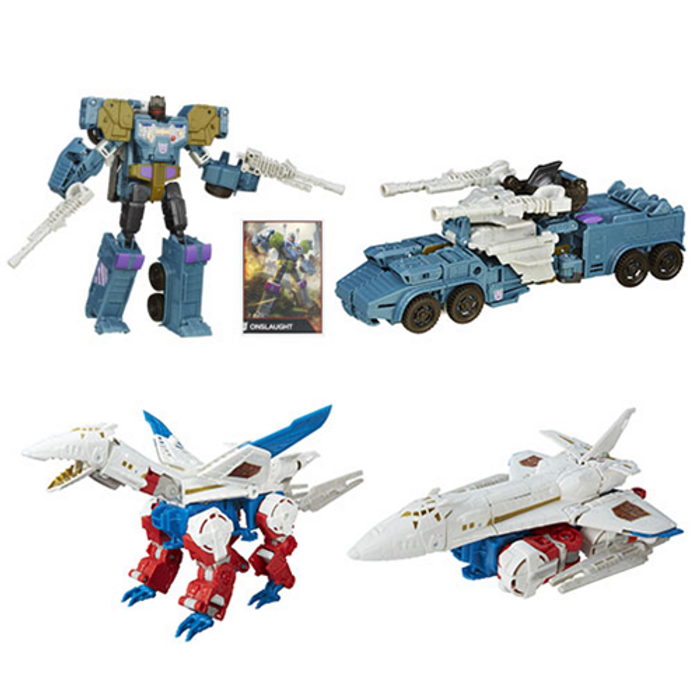 Transformers Generations Combiner Wars Onslaught and Sky Lynx