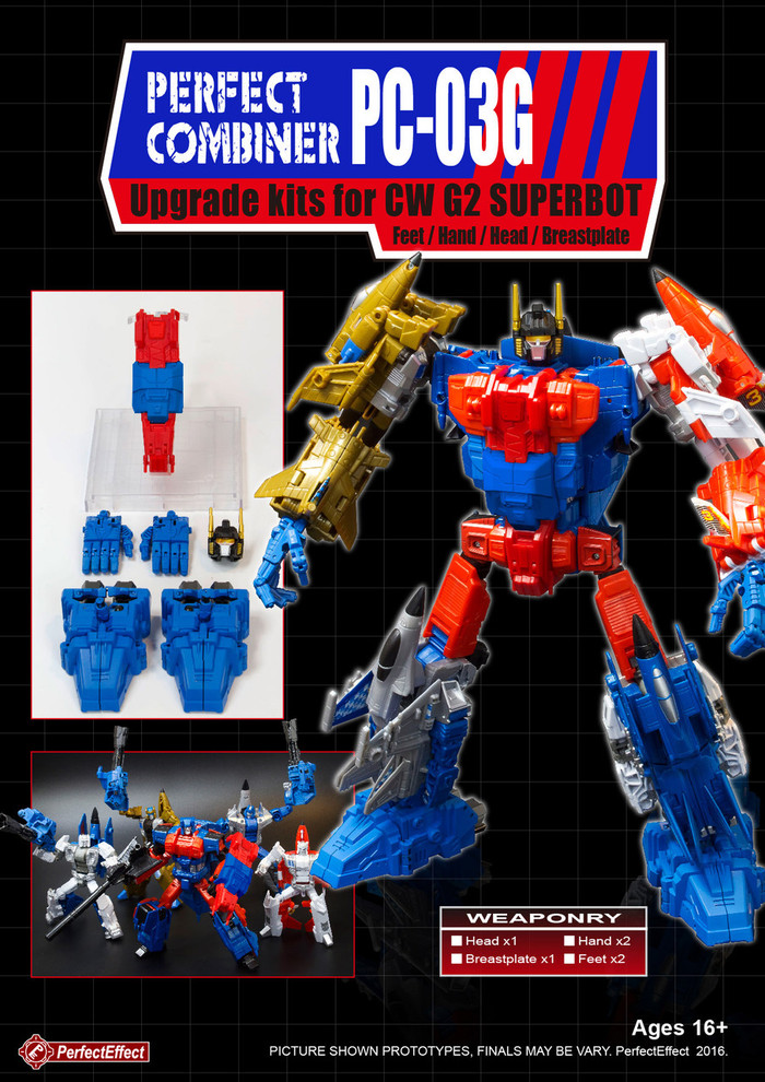 Perfect Effect - PC-03G Perfect Combiner Upgrade Set for Combiner Wars G2 Superion