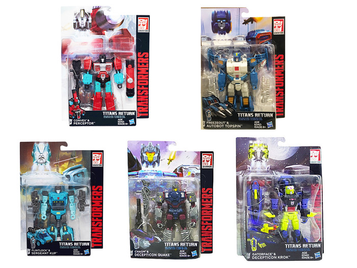 Transformers Generations Titans Return - Deluxe Wave 4 - Set of 5