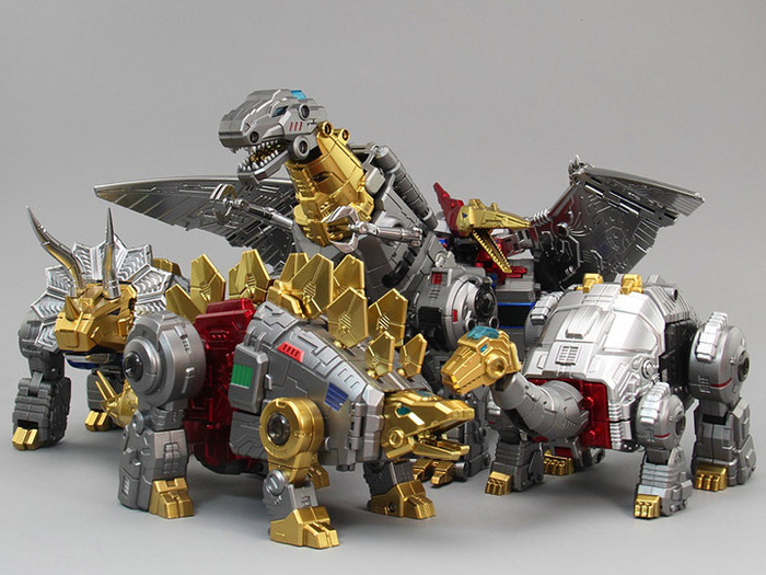 ToyWorld - Metallic Dino Combiner Set of 5