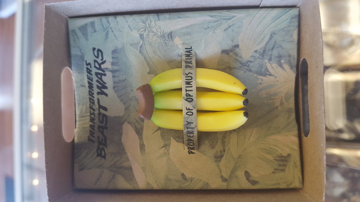 Masterpiece Optimus Primal Promo Item: Banana Box