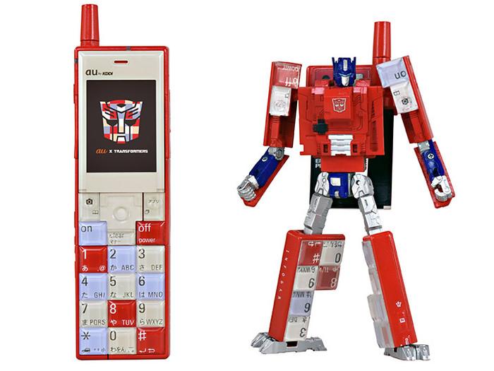 Kddi x Takara - Transformers Project Infobar Optimus Prime