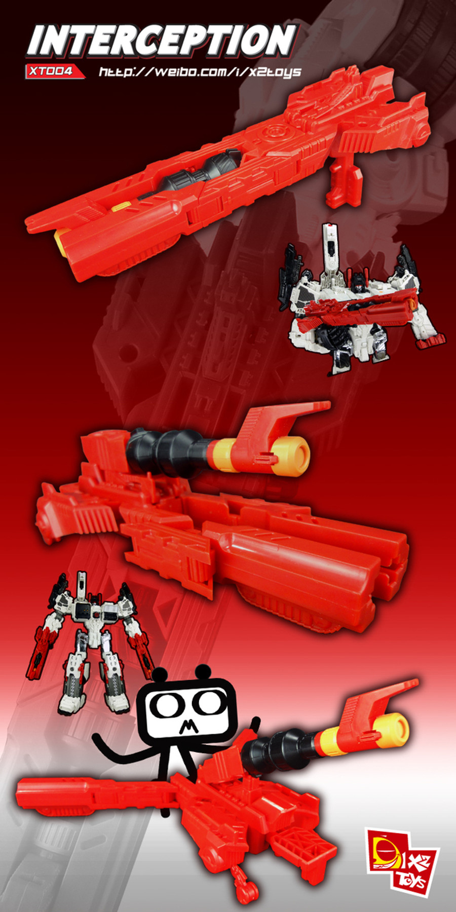 X2 Toys - XT004 Interceptor - Red