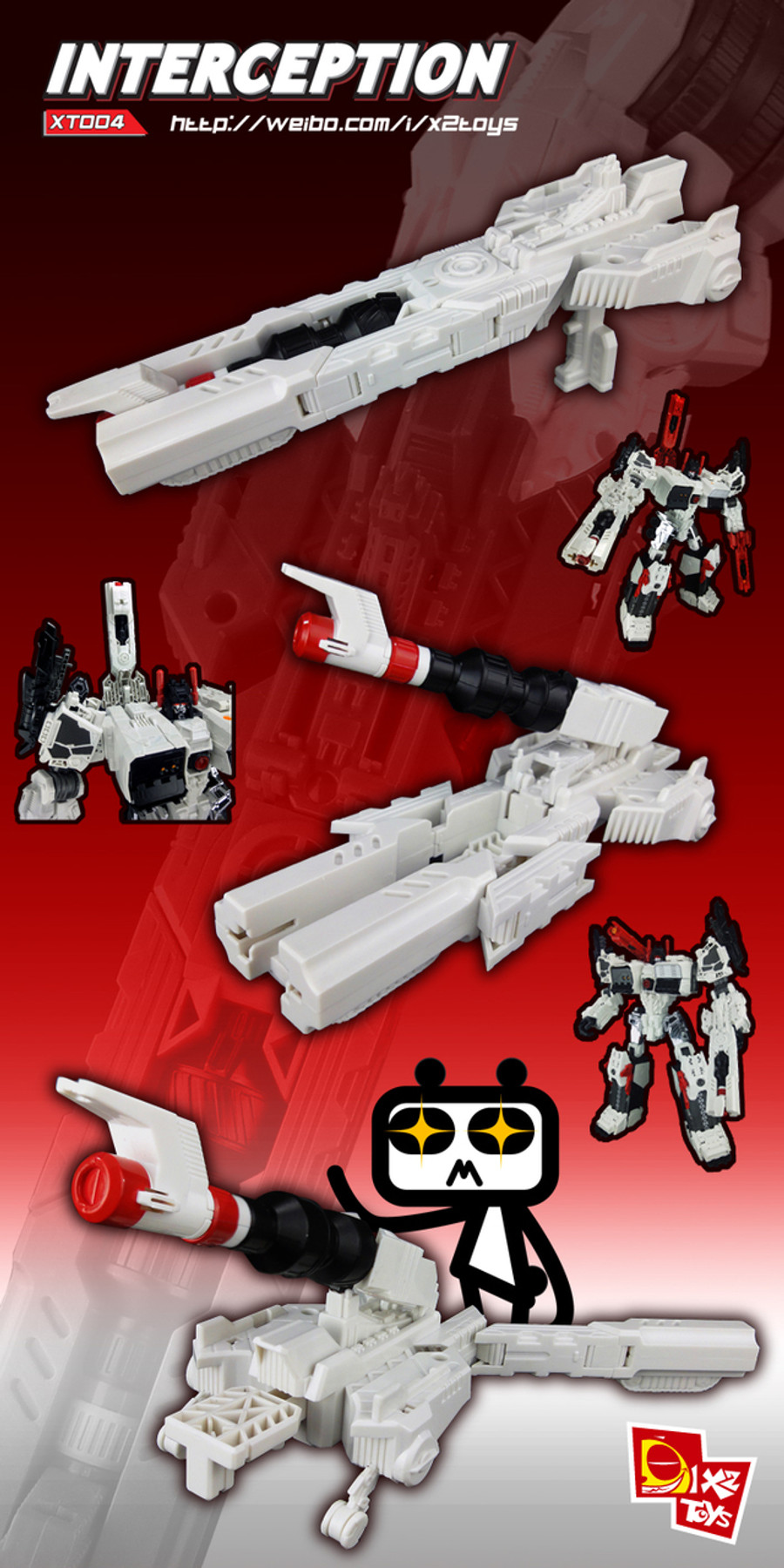 X2 Toys - XT004 Interceptor - White