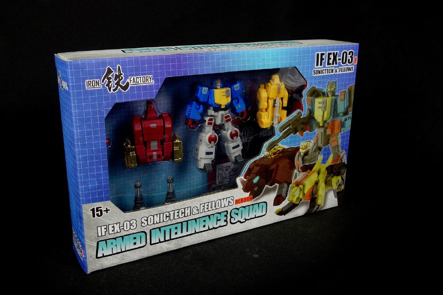 Iron Factory - IF-EX03R - Sonictech,Bassrhino,Leotrible - Blue Version