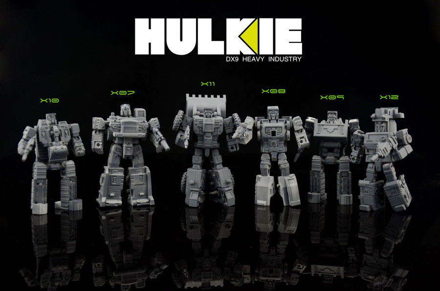 DX9 - War in Pocket - Hulkie set of 6 figures