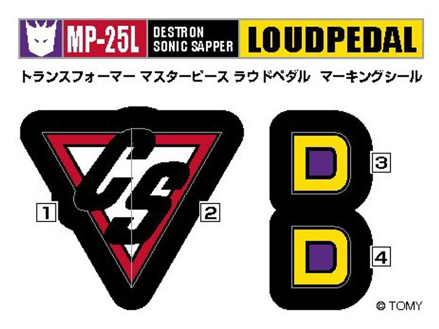 MP-25L - Masterpiece Loud Pedal - Tokyo Toy Show Exclusive