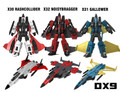 DX9 - War in Pocket - X30 Rashcollider, X31 Gallower, X32 Noisybragger - Coneheads Set of 3