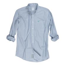 Proper Stripe Sport Shirt - Monaco Blue