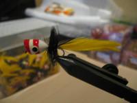 Bass Popper Yellow W/ Red Stripe  2pk.